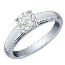 Lot 6349: 0.50 ctw VS/SI Diamond Solitaire Ring 14K White Gold - REF-115K8W - SKU:12017