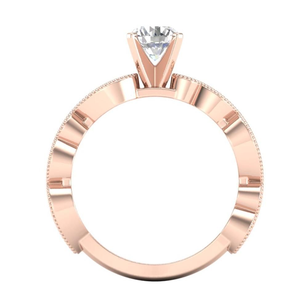 Lot 6238: 1.01 ctw VS/SI Diamond Solitaire Art Deco Ring 18K Rose Gold - REF-218Y2X - SKU:37317