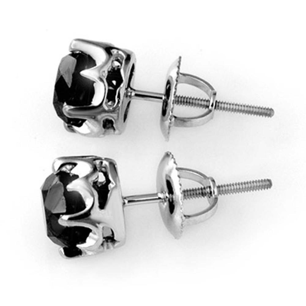 Lot 6221: 2.50 ctw VS Black Diamond Stud Earrings 14K White Gold - REF-74A7V - SKU:11802