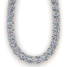 Lot 6252: 40 ctw Cushion SI Diamond Necklace 14K White Gold - REF-6465V2Y - SKU:32190