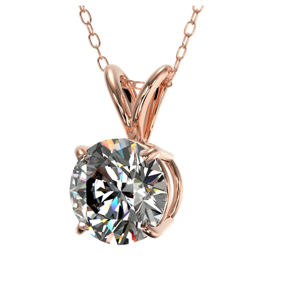 Lot 6262: 1.04 ctw H-SI/I Diamond Necklace 10K Rose Gold - REF-180W2H - SKU:36751