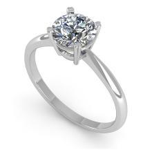 Lot 6281: 1.0 ctw VS/SI Diamond Ring 14K White Gold - REF-272H3M - SKU:38452