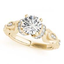 Lot 6322: 1.15 ctw VS/SI Diamond 2pc Wedding Set 14K Yellow Gold - REF-157H6M - SKU:31474