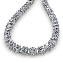 Lot 6328: 39 ctw SI Diamond Necklace 18K White Gold - REF-6180N2A - SKU:35928