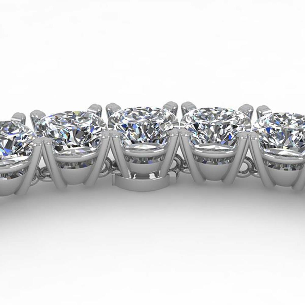 Lot 6463: 30 ctw Cushion SI Diamond Necklace 18K Rose Gold - REF-4965M2F - SKU:32513