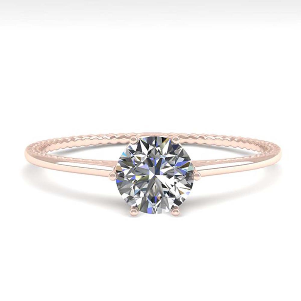 Lot 6472: 0.50 ctw VS/SI Diamond Ring 18K Rose Gold - REF-96K2W - SKU:35879