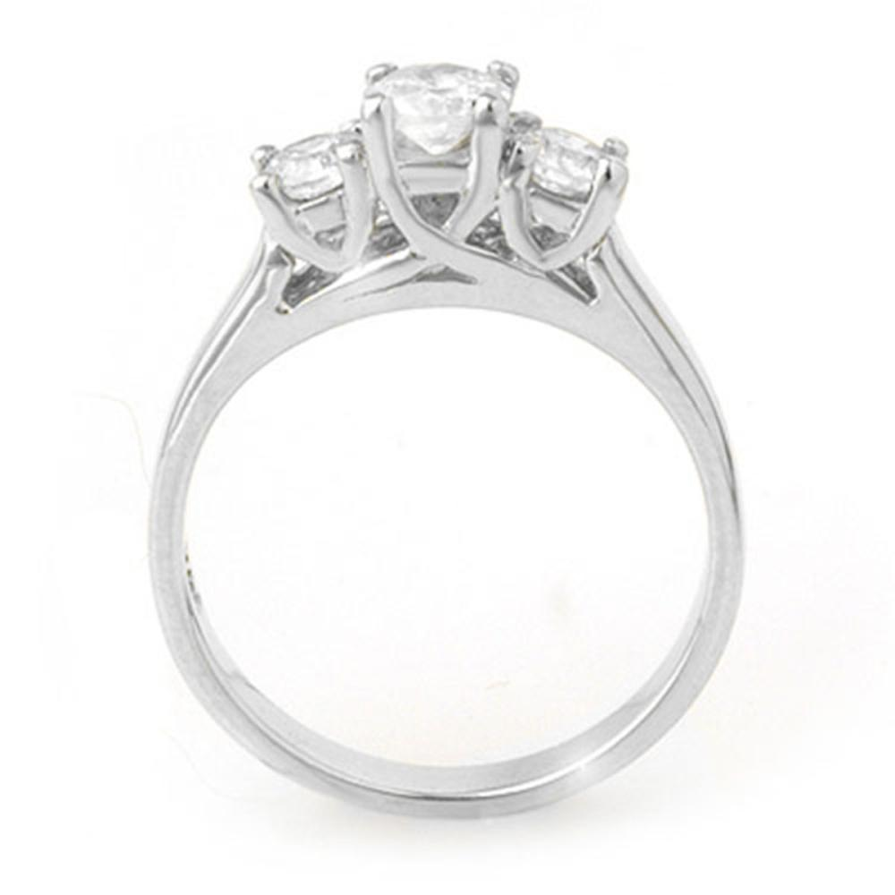 Lot 6390: 1.0 ctw VS/SI Diamond 3 Stone Ring 18K White Gold - REF-147V3Y - SKU:10963