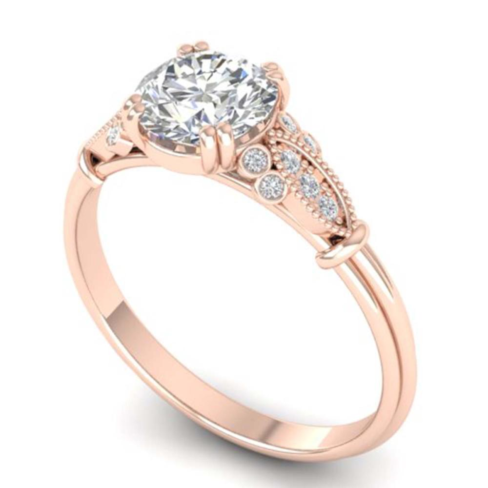 Lot 6418: 1.15 ctw VS/SI Diamond Art Deco Ring 14K Rose Gold - REF-298X8R - SKU:30550