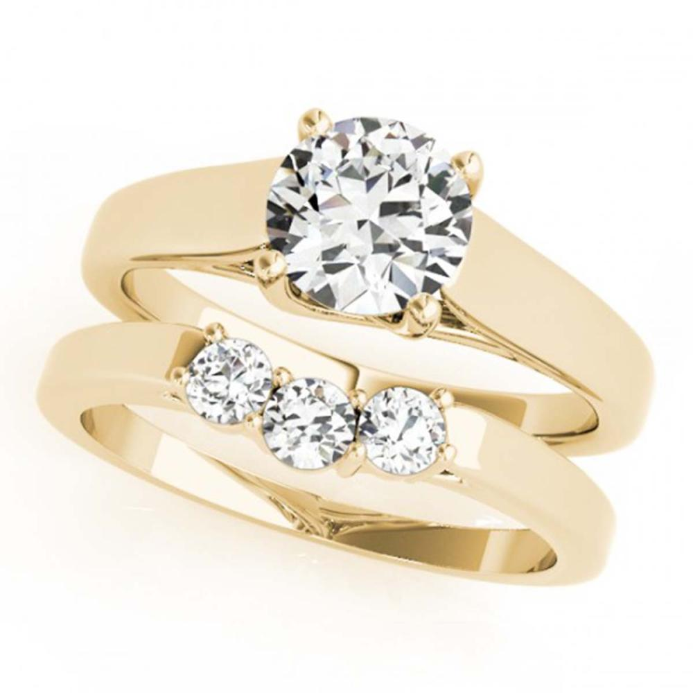 Lot 6539: 1.27 ctw VS/SI Diamond 2pc Set Wedding 14K Yellow Gold - REF-268X5R - SKU:32113