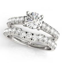 Lot 6547: 1.97 ctw VS/SI Diamond 2pc Set Wedding 14K White Gold - REF-389W5H - SKU:32090