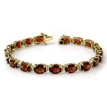 Lot 6570: 28.0 ctw Garnet Bracelet 10K Yellow Gold - REF-62V2Y - SKU:14231