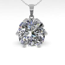 Lot 6506: 1 ctw VS/SI Cushion Cut Diamond Necklace 18K White Gold - REF-285N2A - SKU:35871