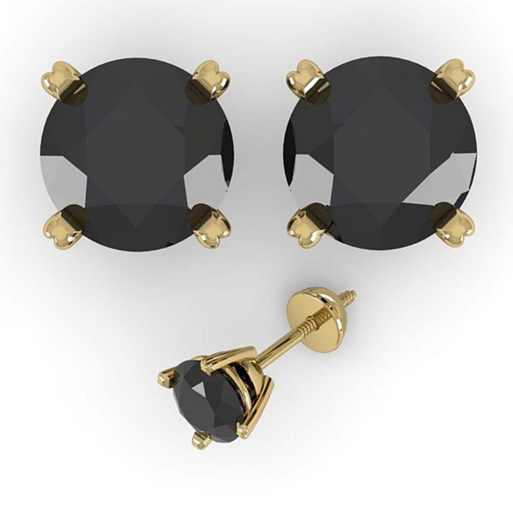 Lot 6532: 2.0 ctw Black Diamond Stud Earrings 18K Yellow Gold - REF-52A6V - SKU:32308