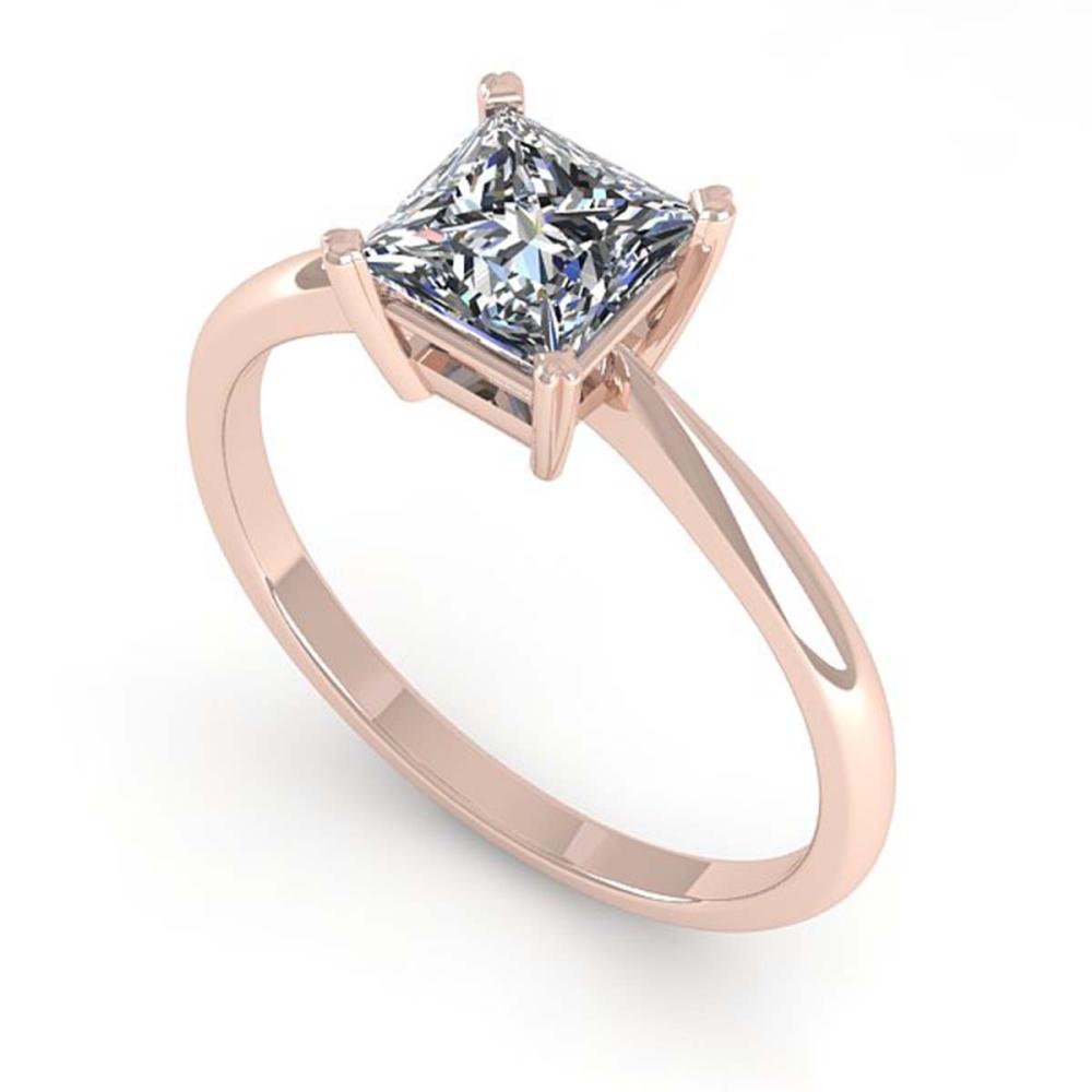 Lot 6536: 1.03 ctw VS/SI Princess Cut Diamond Ring 18K Rose Gold - REF-285Y2X - SKU:32420