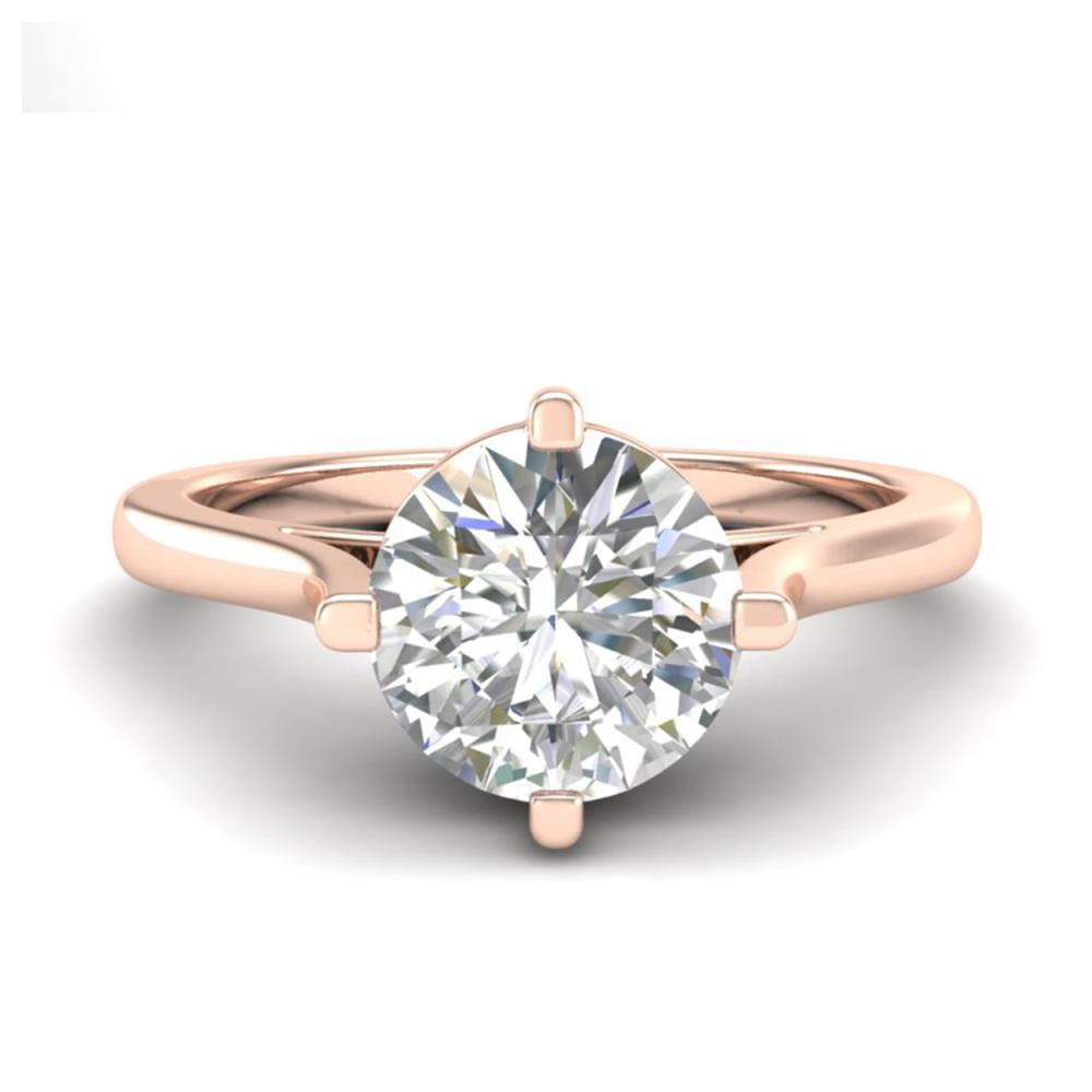 Lot 6526: 1.25 ctw VS/SI Diamond Solitaire Art Deco Ring 18K Rose Gold - REF-490A9V - SKU:37227