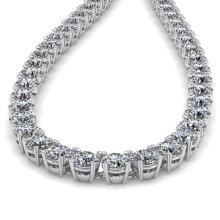 Lot 6568: 30 ctw SI Diamond Necklace 14K White Gold - REF-4815A2V - SKU:38506