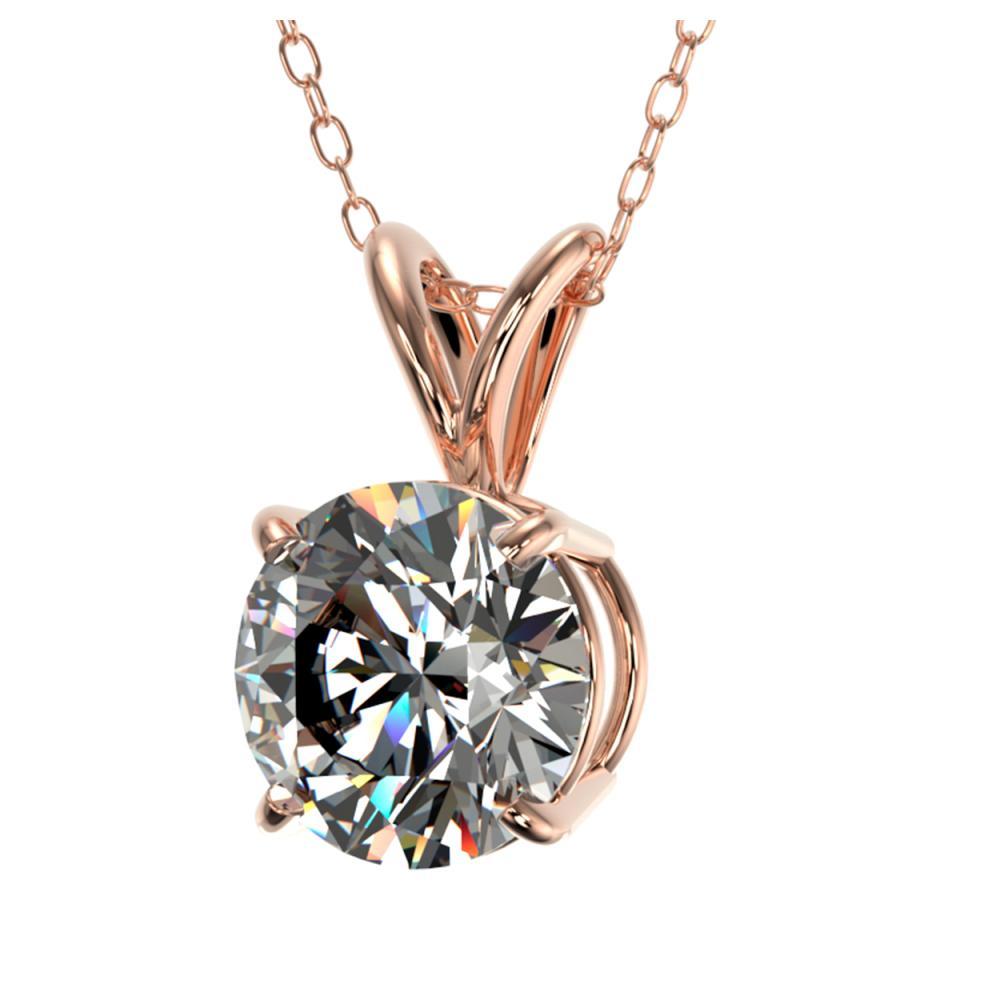 Lot 6591: 1.30 ctw H-SI/I Diamond Necklace 10K Rose Gold - REF-270N2A - SKU:36783