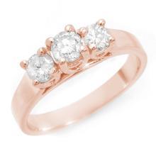 Lot 6627: 0.50 ctw VS/SI Diamond 3 Stone Ring 14K Rose Gold - REF-76H4M - SKU:10986