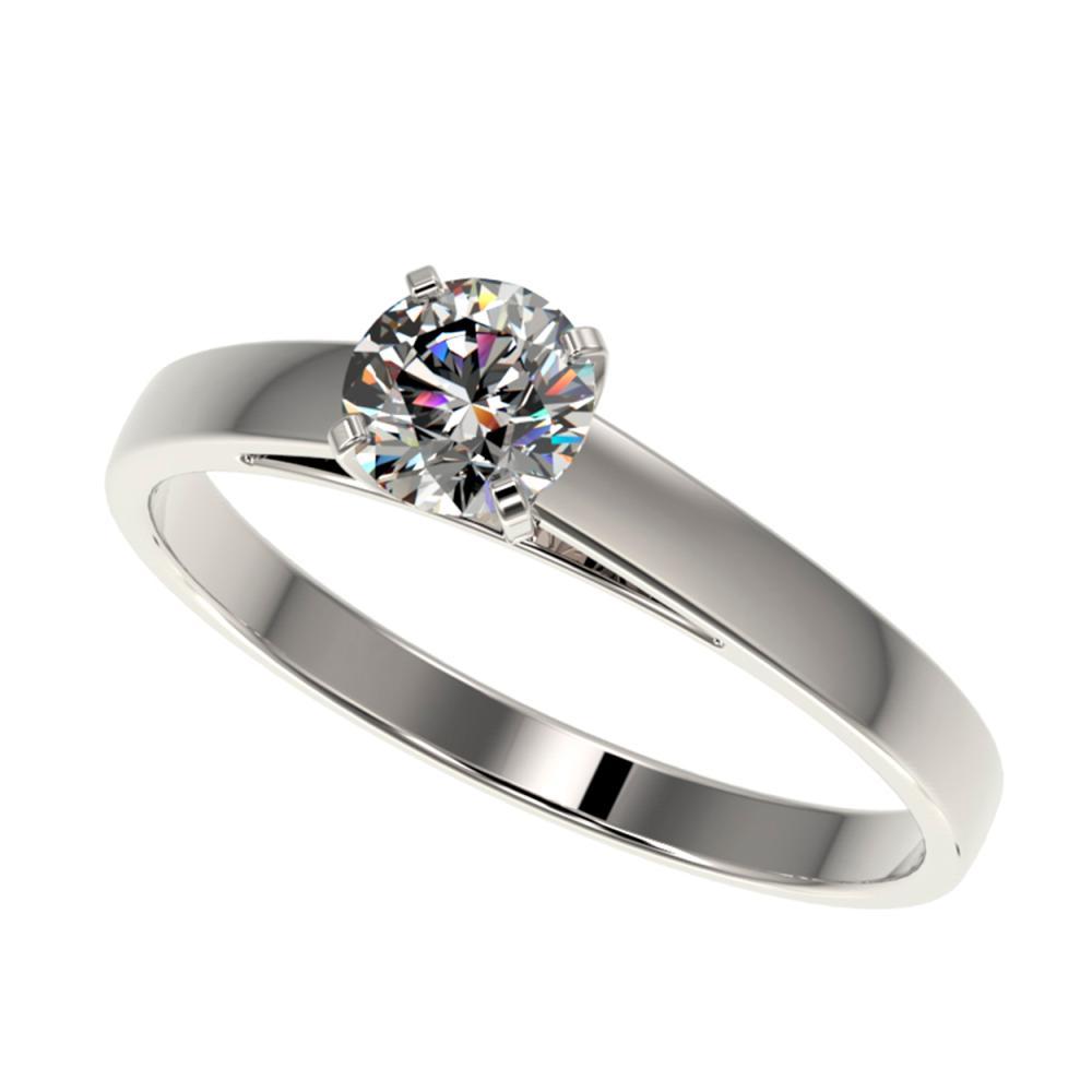 Lot 6630: 0.51 ctw H-SI/I Diamond Ring 10K White Gold - REF-54F2N - SKU:36458