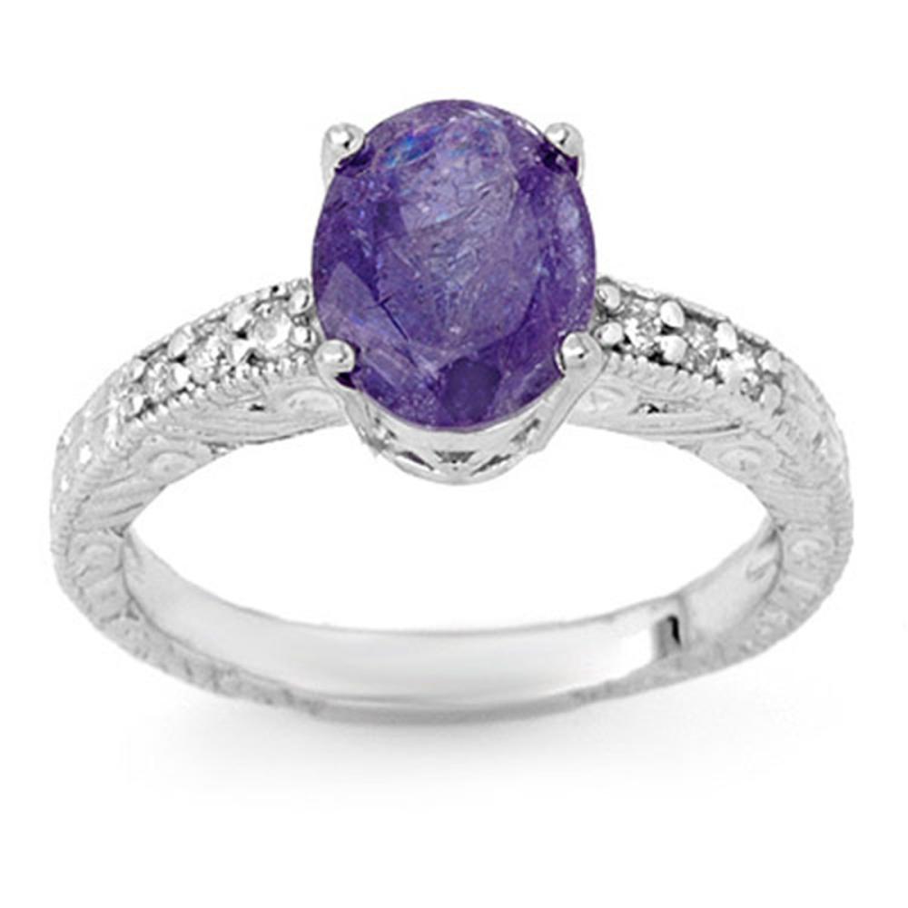 Lot 6648: 2.68 ctw Tanzanite & Diamond Ring 14K White Gold - REF-61A8V - SKU:13914