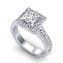 Lot 6655: 2 ctw Princess VS/SI Diamond Solitaire Ring 18K White Gold - REF-472K7W - SKU:37181