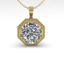 Lot 6669: 0.50 ctw VS/SI Diamond Necklace 18K Yellow Gold - REF-97K3W - SKU:35992