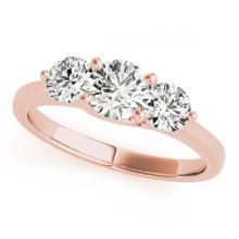 Lot 6658: 3 ctw VS/SI Diamond 3 Stone Bridal Ring 14K Rose Gold - REF-802F2N - SKU:25866