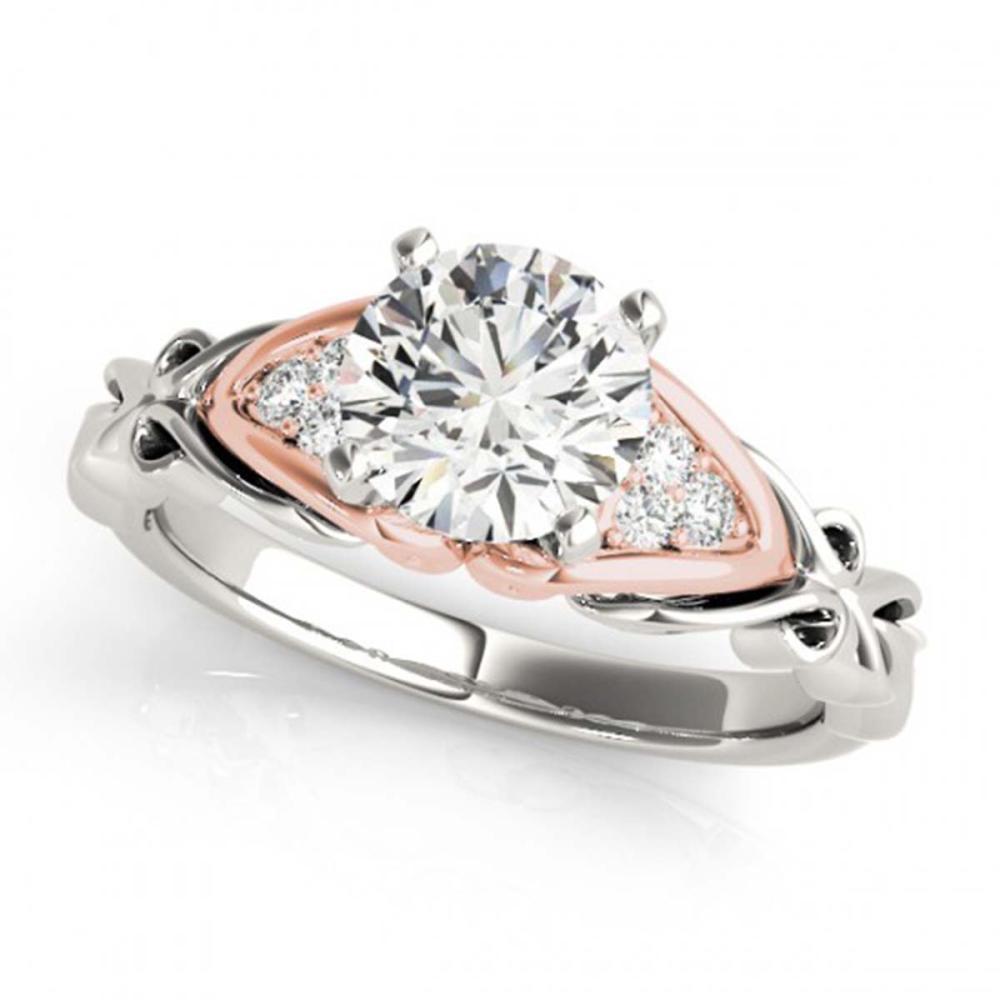 Lot 6666: 1.35 ctw VS/SI Diamond Solitaire 2pc Set 14K White & Rose Gold - REF-379X3R - SKU:31887