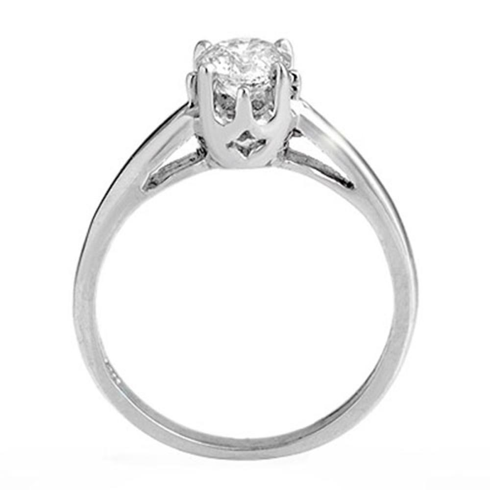 Lot 6678: 0.80 ctw VS/SI Diamond Solitaire Ring 14K White Gold - REF-236W2H - SKU:11147