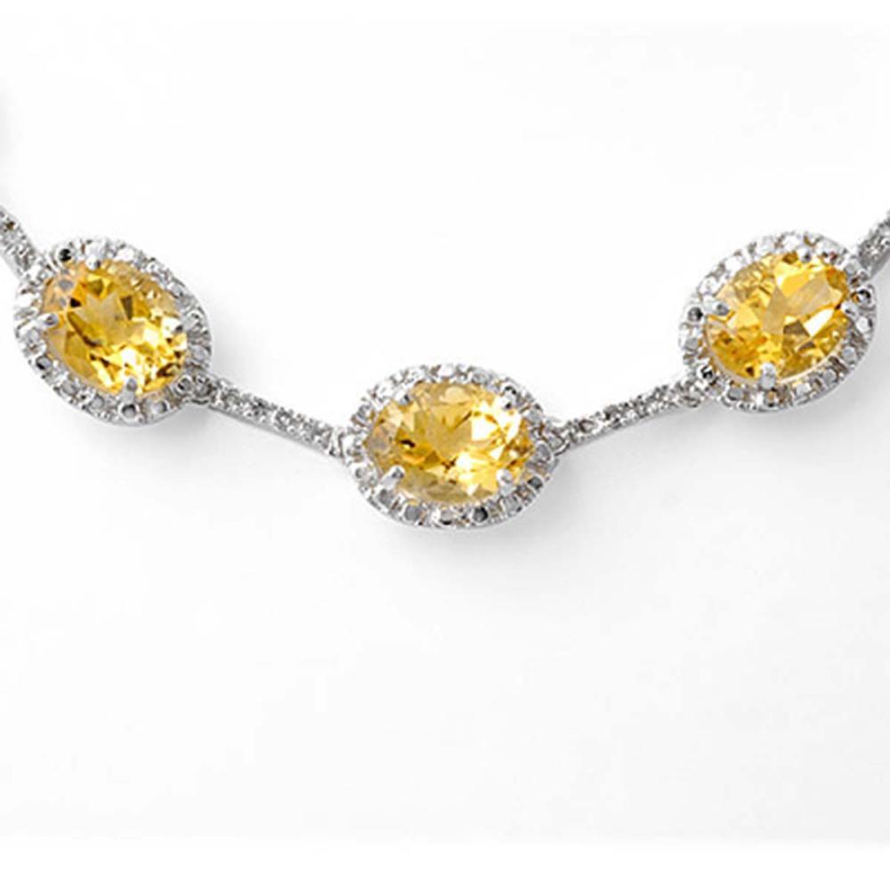 Lot 6708: 37.0 ctw Citrine & Diamond Necklace 10K White Gold - REF-181Y6X - SKU:10064