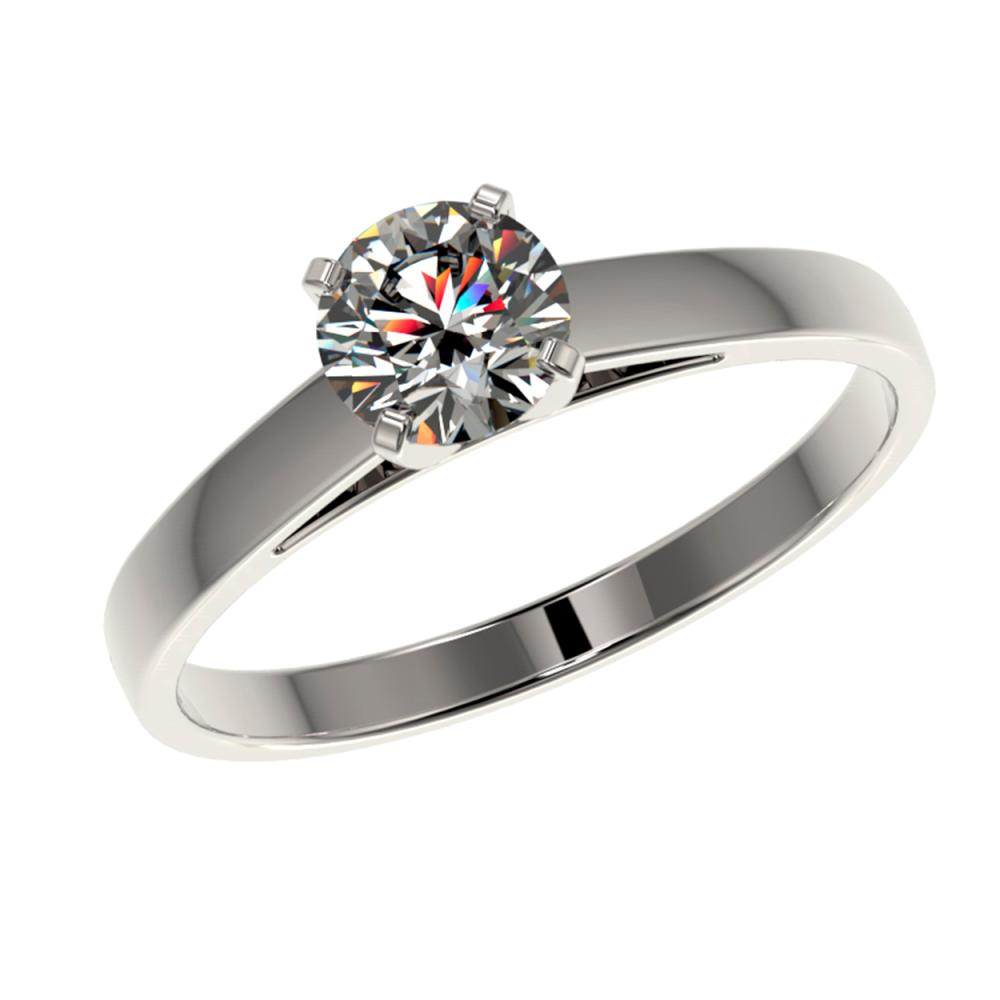 Lot 6719: 0.78 ctw H-SI/I Diamond Ring 10K White Gold - REF-97F5N - SKU:36482