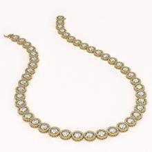 Lot 6716: 35.32 ctw Diamond Necklace 18K Yellow Gold - REF-4132W4H - SKU:42670