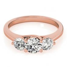 Lot 6758: 3 ctw VS/SI Diamond 3 Stone Solitaire Ring 18K Rose Gold - REF-823W3H - SKU:28018