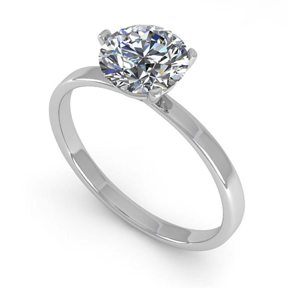 Lot 6765: 1.01 ctw VS/SI Diamond Ring 14K White Gold - REF-315R2K - SKU:30577