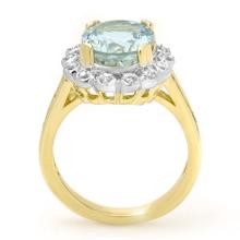 Lot 6782: 5.33 ctw Aquamarine & Diamond Ring 10K Yellow Gold - REF-81A8V - SKU:14503