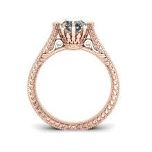 Lot 6791: 1 ctw Solitaire VS/SI Diamond Ring 14K Rose Gold - REF-304M5F - SKU:38545