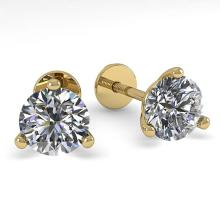 Lot 6798: 0.50 ctw VS/SI Diamond Stud Earrings 14K Yellow Gold - REF-44H4M - SKU:38306