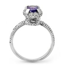 Lot 6801: 1.90 ctw Tanzanite & Diamond Ring 18K White Gold - REF-86V4Y - SKU:13473