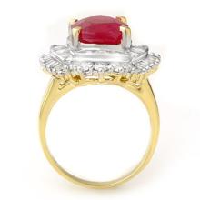 Lot 6813: 6.15 ctw Ruby & Diamond Ring 14K Yellow Gold - REF-180H2M - SKU:13129