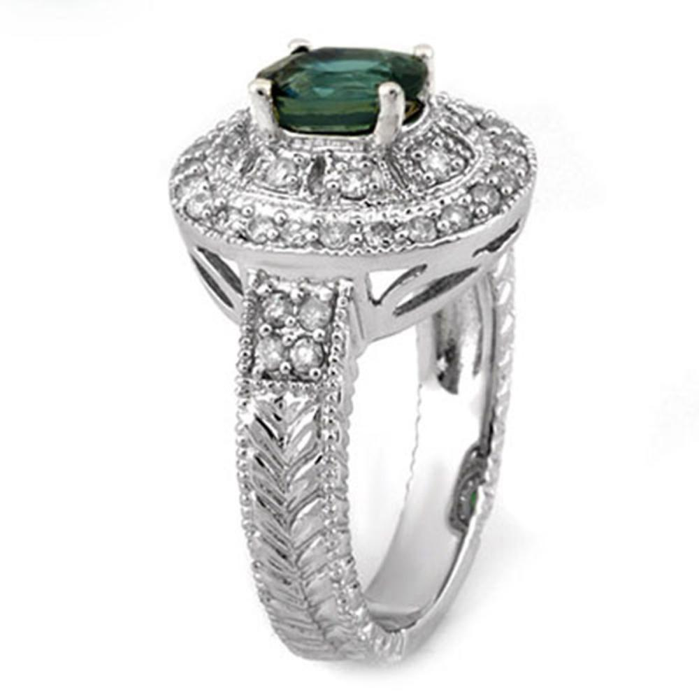 Lot 6811: 2.08 ctw Blue Sapphire & Diamond Ring 18K White Gold - REF-103V6Y - SKU:10991