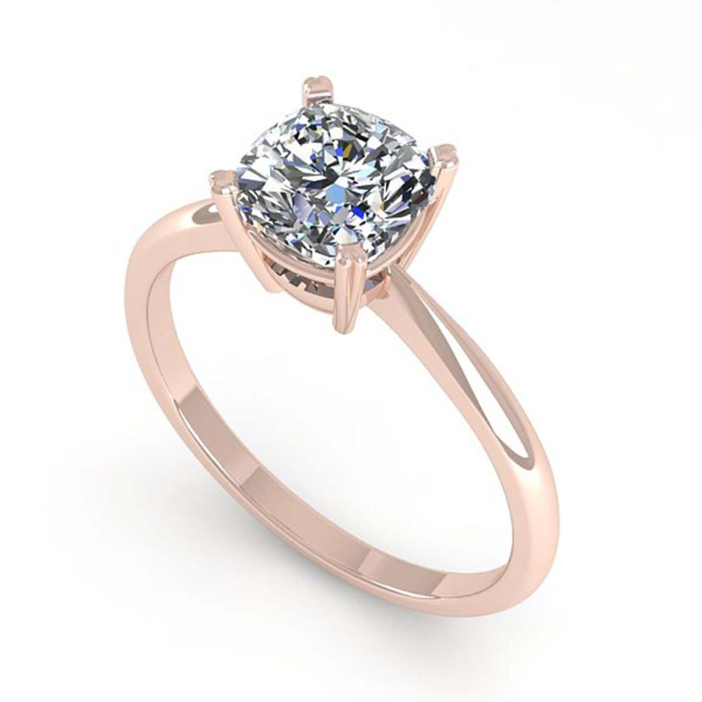 Lot 6829: 1.03 ctw VS/SI Cushion Diamond Ring 14K Rose Gold - REF-297V2Y - SKU:32174