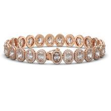 Lot 6815: 18.8 ctw Oval Diamond Bracelet 18K Rose Gold - REF-2579X2R - SKU:42816