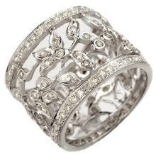 Lot 6810: 1.30 ctw VS/SI Diamond Ring 18K White Gold - REF-123N6A - SKU:10660