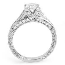 Lot 6838: 1.50 ctw VS/SI Diamond Ring 14K White Gold - REF-275W5H - SKU:11443