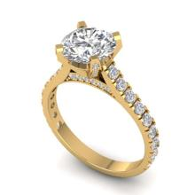 Lot 6861: 2.4 ctw VS/SI Diamond Solitaire Art Deco Ring 14K Yellow Gold - REF-589K7W - SKU:30443