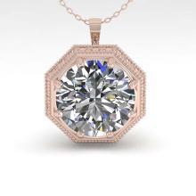 Lot 6877: 1.50 ctw VS/SI Diamond Necklace 18K Rose Gold - REF-525N6A - SKU:36008