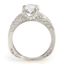 Lot 6872: 1.10 ctw VS/SI Diamond Ring 14K White Gold - REF-172N2A - SKU:11658