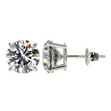 Lot 6894: 3 ctw H-SI/I Diamond Stud Earrings 10K White Gold - REF-735Y2X - SKU:33120