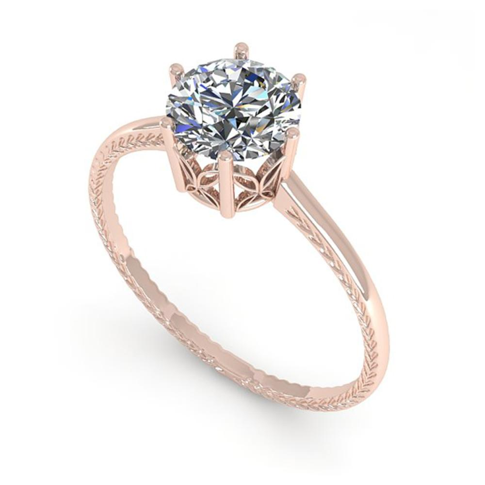 Lot 6873: 1.01 ctw VS/SI Diamond Ring 18K Rose Gold - REF-286Y3X - SKU:35888