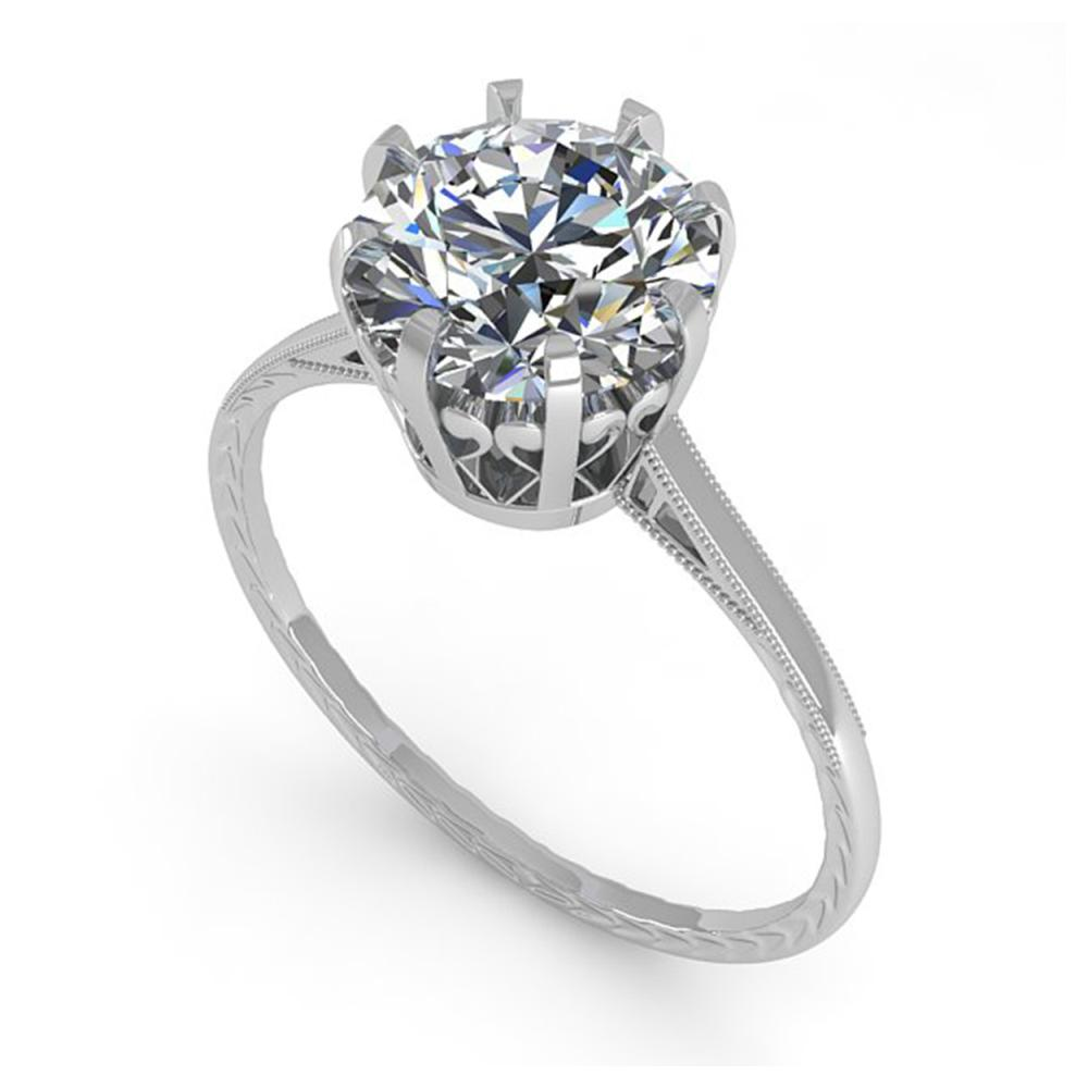Lot 6909: 2.03 ctw VS/SI Diamond Engagement Ring 14K White Gold - REF-936R9K - SKU:35574